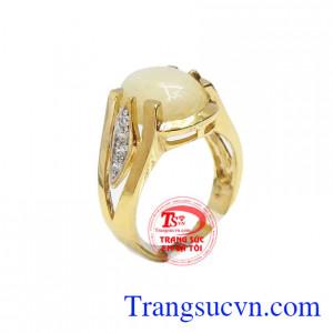 Nhẫn nữ saphia thanh lịch