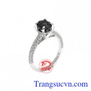 Nhẫn nữ Saphir dịu dàng