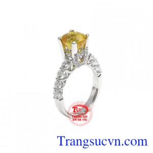 Nhẫn nữ sapphir vàng tinh tế