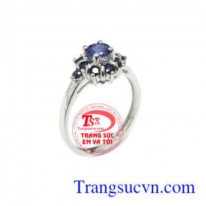 Nhẫn nữ sapphire sang trọng 14k