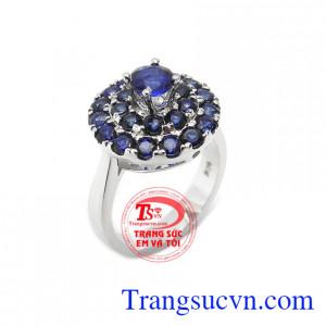 Nhẫn nữ sapphire quý phái 14k