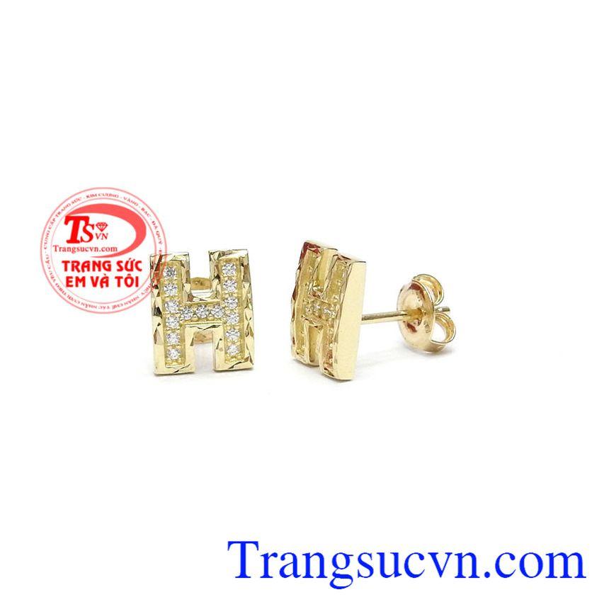 Hoa tai chữ H đẹp được nhập khẩu từ Hàn Quốc với công nghệ mới tiên tiến