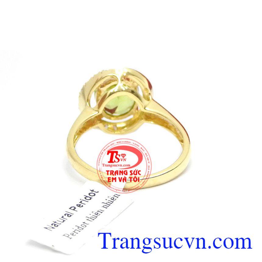 Nhẫn Nữ vàng gắn đá tự nhiên, chất lượng vàng đảm đeo bền đẹp sáng bóng, tinh tế và sang trọng dành cho phái đẹp