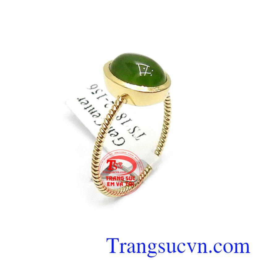 Nhẫn nữ vàng Nephrite may mắn