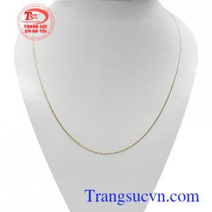 Dây vàng nữ Italy dịu dàng vàng 18k bền đẹp, chất lượng, kiểu dáng thời trang, xinh xắn