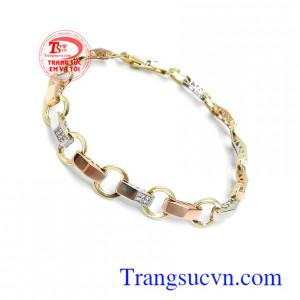 Lắc vàng Italy 18k xinh xắn nhập khẩu nguyên chiếc đẳng cấp