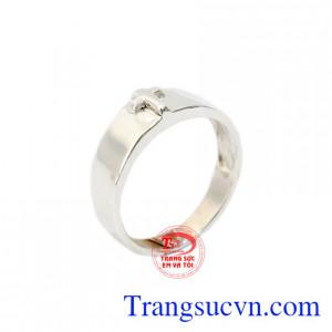 Nhẫn nữ bạc thập giá