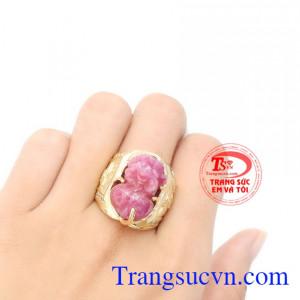 Nhẫn nam vàng tây đá quý uy tín, chất lượng, giao hàng toàn quốc