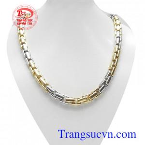 Dây chuyền vàng Italy 18k đẳng cấp nhập khẩu nguyên chiếc kiểu dáng thời trang, sang trọng và mạnh mẽ