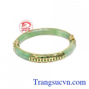 Vòng tay cẩm thạch kim tiền