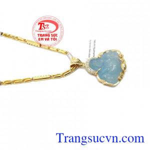 Mặt dây chuyền aquamarin thiên nhiên mang lại nhiều may mắn cho người đeo