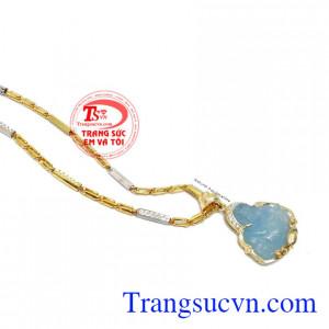 Mặt dây chuyền nam chạm khắc bọc vàng 14k sáng bóng đảm bảo chất lượng hợp thời trang, sang trọng