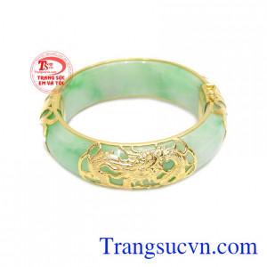 Vòng ngọc cẩm thạch rồng vàng