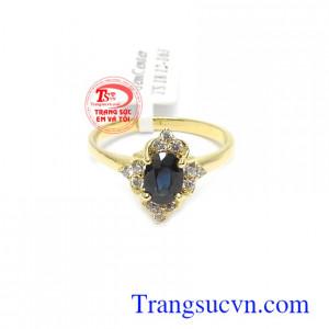 Nhẫn nữ vàng Sapphire thời trang