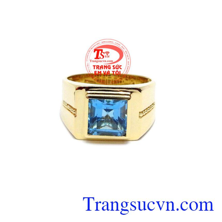 Nhẫn nam Topaz Thịnh Vượng được phái mạnh ưa thích, sản phẩm được thiết kế đẹp thời trang, lịch sự