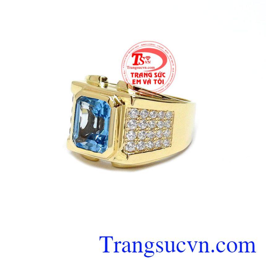 Nhẫn Nam Topaz tinh tế đẹp với kiểu dáng thời trang, phong cách