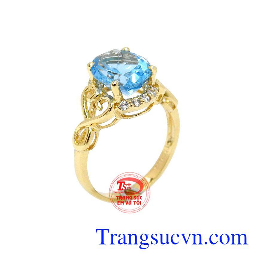 Nhẫn nữ topaz đẹp 14k