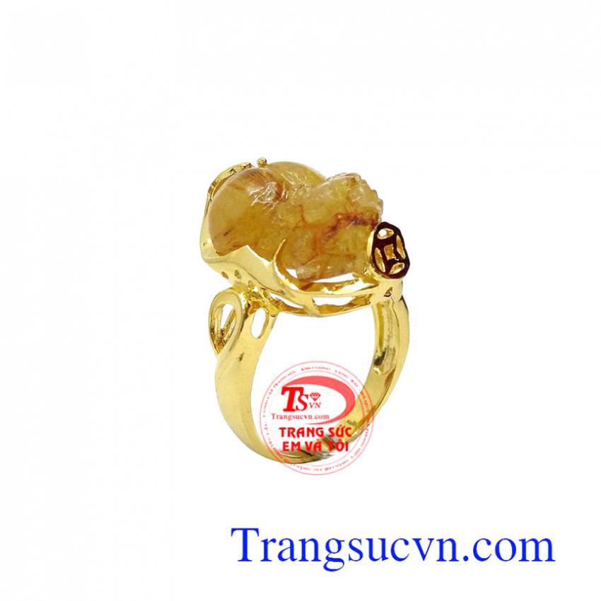 Nhẫn nữ vàng tỳ hưu đẹp