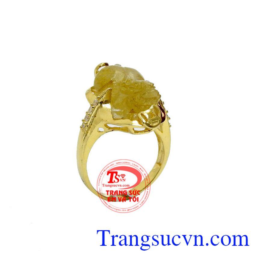 Nhẫn nữ vàng tỳ hưu phú quý