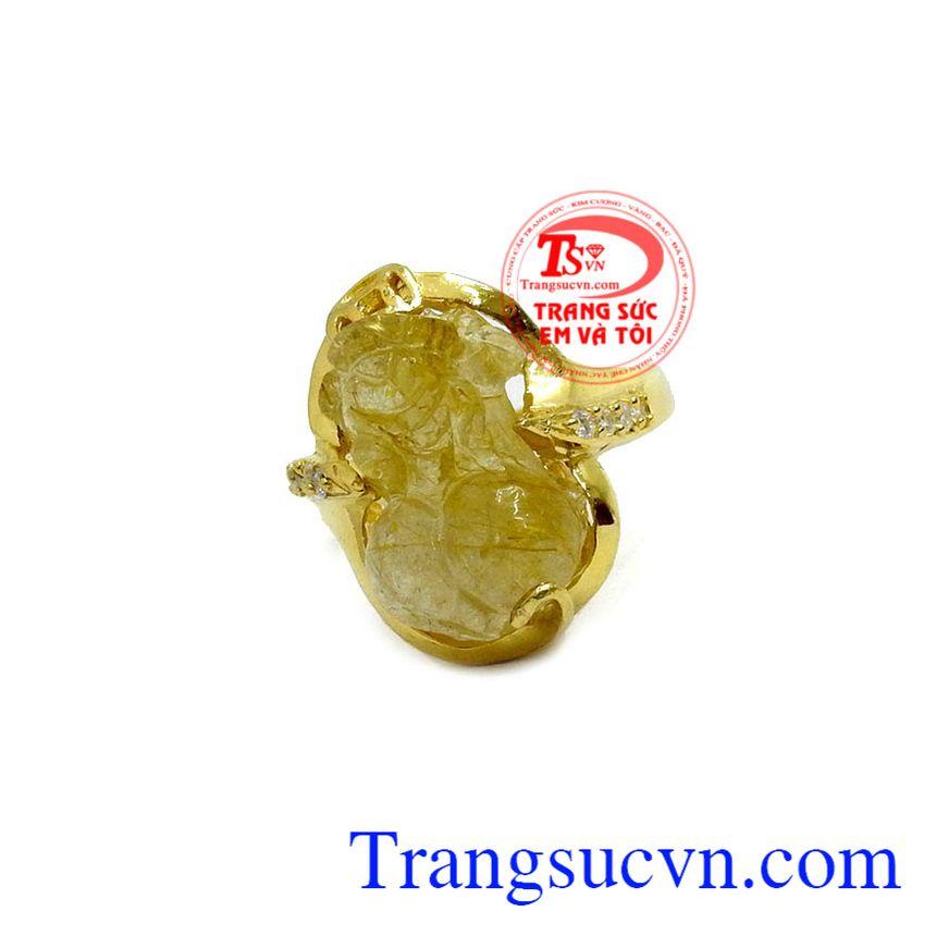 Nhẫn nữ vàng tỳ hưu phú quý, bảo hành 6 tháng, giao hàng nhanh trên toàn quốc