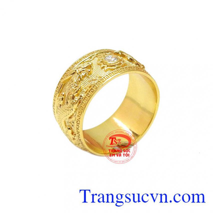 Nhẫn nữ rồng phượng 18k