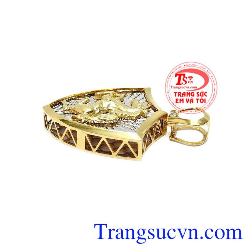 Mặt dây Mã Đáo Thành Công được chế tác từ vàng 18k, bảo hành 12 tháng, giao hàng nhanh trên toàn quốc