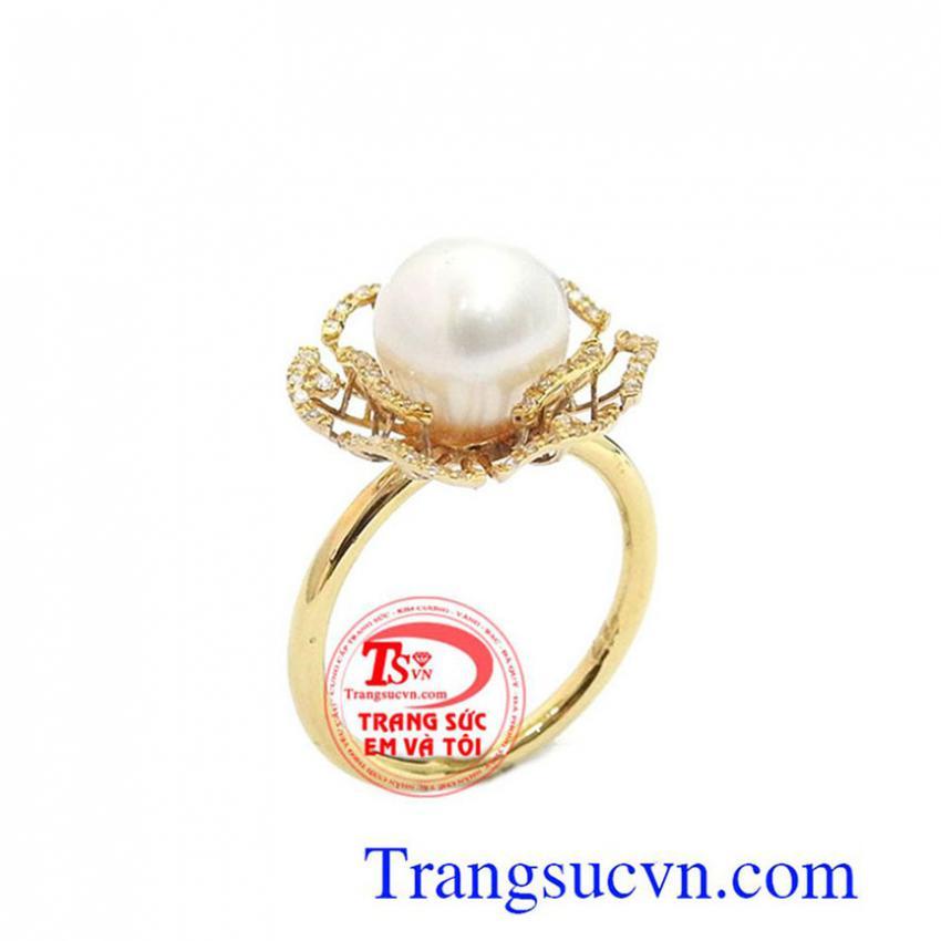 Nhẫn Ngọc Trai San Hô Đẹp