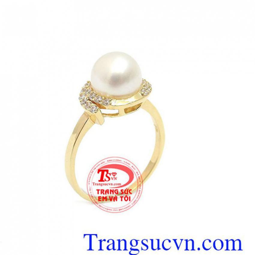 Nhẫn Nữ Ngọc Trai Sang Trọng