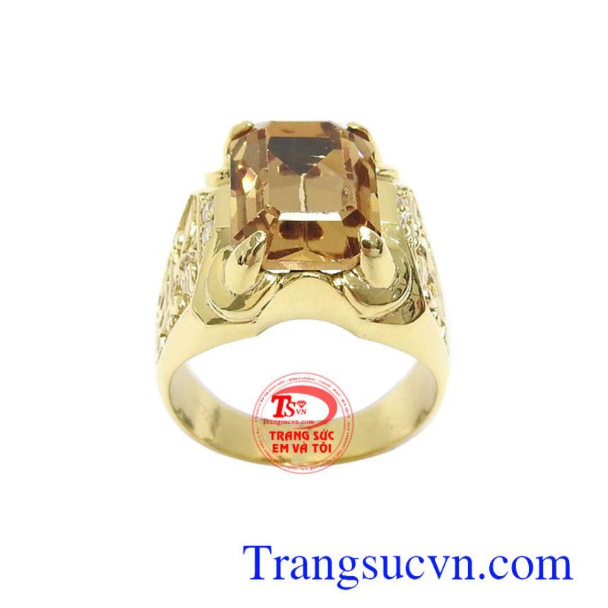 Nhẫn nam thời thượng vàng 10k chế tác công nghệ cao, đính đá tinh tế mang lại nét cá tính, phong cách và thời trang cho phái mạnh, phù hợp làm quà tặng trong những dịp ý nghĩa
