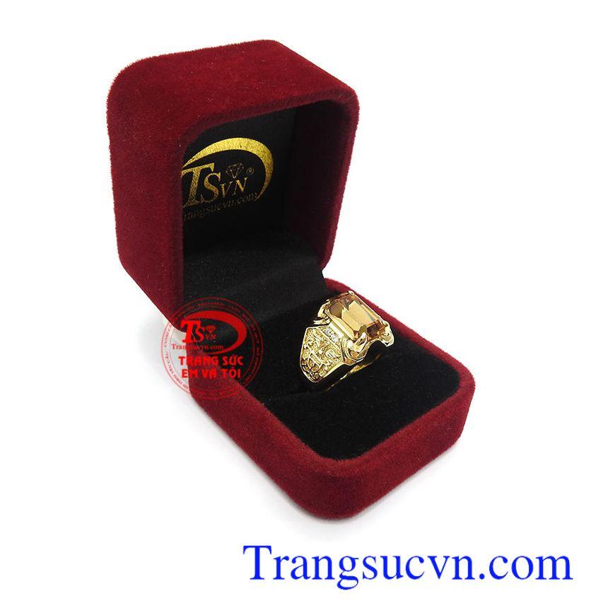 Nhẫn nam vàng tây bền đẹp, chất lượng, bảo hành 06 tháng