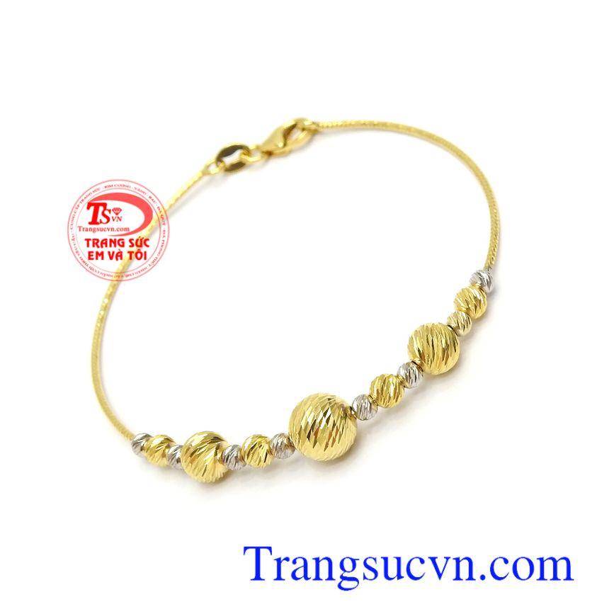 Lắc tay vàng 10k nhập khẩu Italy thời trang, sang trọng và đẳng cấp