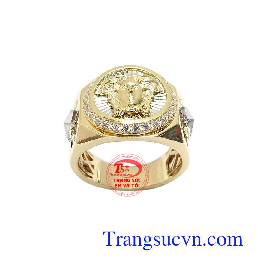 Nhẫn nam vàng 10k mạnh mẽ với nét chế tác mới lạ, mang lại sự cá tính, thời trang, đẳng cấp và phong cách phái mạnh