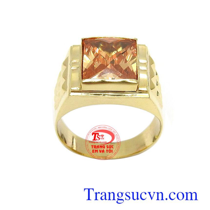 Nhẫn nam đính đá sang trọng là dòng sản phẩm rất được phái mạnh ưa chuộng, tôn lên nét cá tính, mạnh mẽ và thời trang