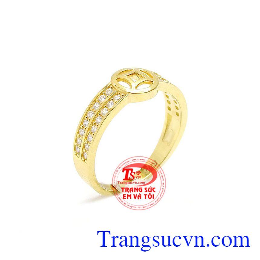 Nhẫn nữ mặt kim tiền