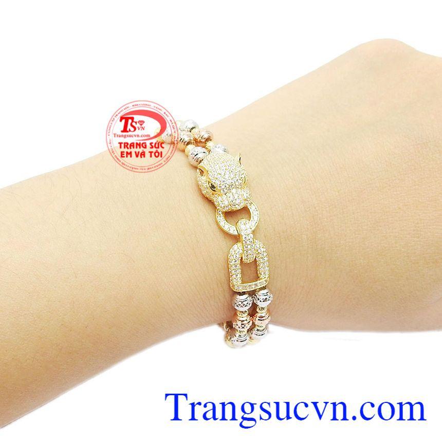 Lắc tay nữ vàng 10k cá tính quý phái phù hợp phong cách sang trọng, dịu dàng và tinh tế cho phái đẹp