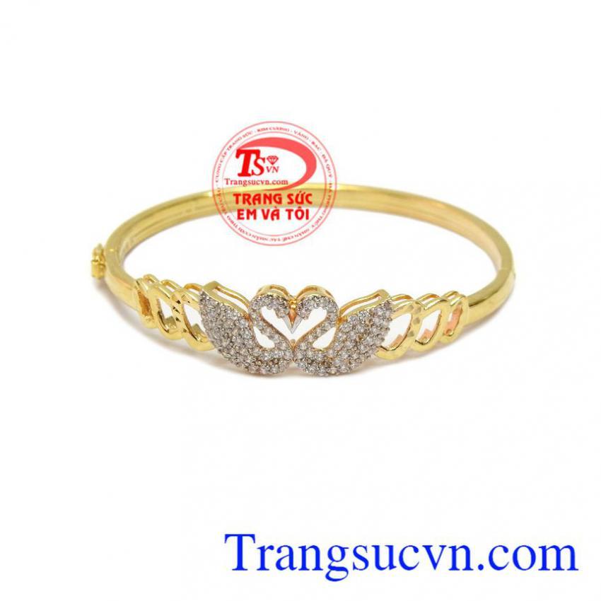 Vòng trái tim vàng 10k