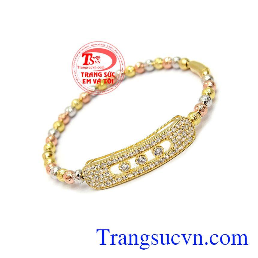 Vòng tay bi quý phái vàng 10k phù hợp làm quà tặng cho người thân, bạn bè.