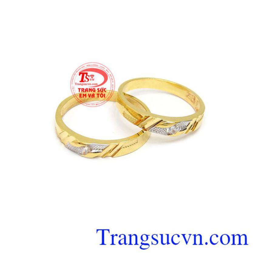 Nhẫn cưới vàng 10k chất lượng
