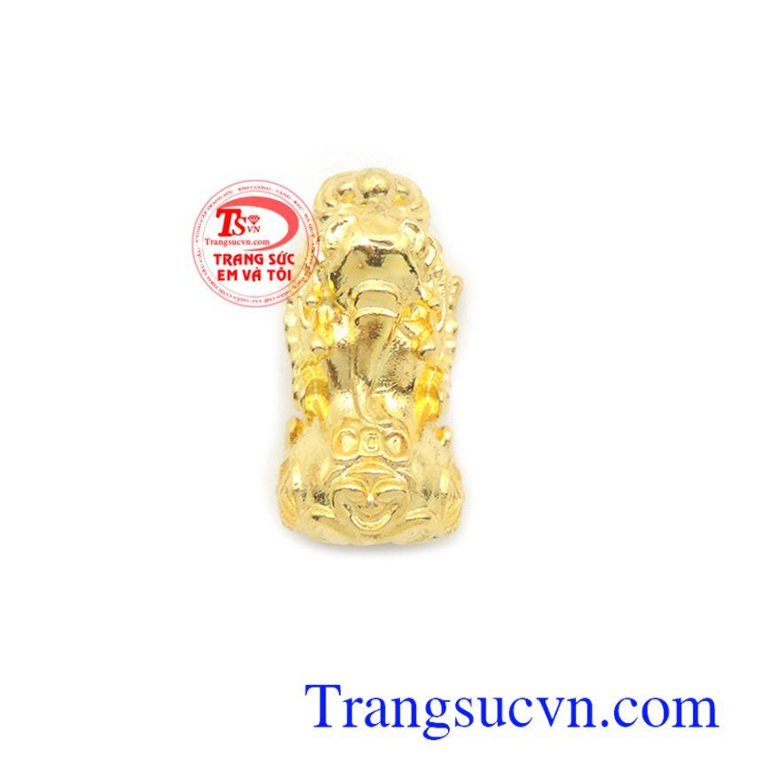 Mặt dây tỳ hưu tài lộc 10k với tỳ hưu là linh vật có tác dụng chiêu tài lộc, của cải, giải trừ hung khí, mang lại bình an và may mắn cho người đeo