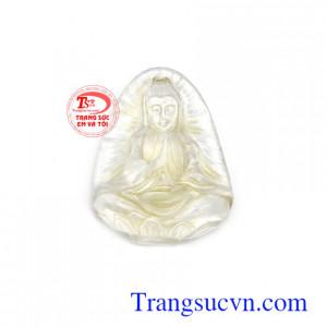 Mặt Phật quan âm thạch anh may mắn