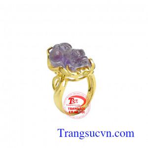 Nhẫn nữ vàng tỳ hưu như ý