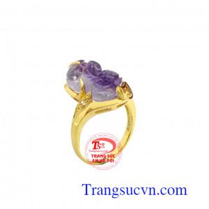 Nhẫn nữ vàng tỳ hưu thịnh vượng