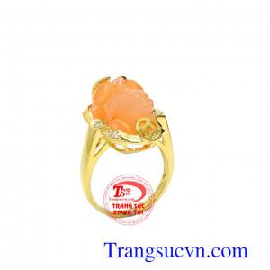 Nhẫn nữ vàng tỳ hưu hưng thịnh