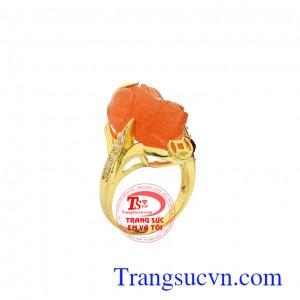 Nhẫn nữ tỳ hưu vàng đắc lộc
