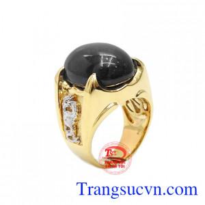 Nhẫn nam sapphire rồng vàng