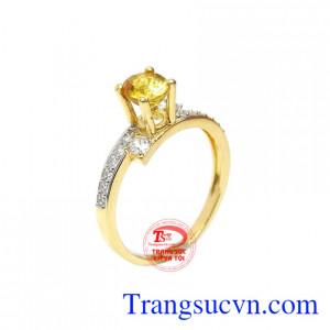 Nhẫn nữ sapphire vàng tinh tế