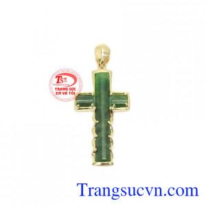 Mặt dây thánh giá cẩm thạch