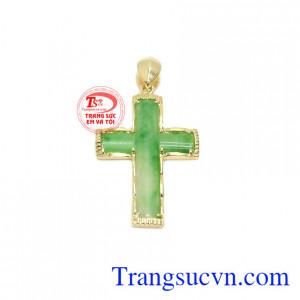 Mặt dây thánh giá cẩm thạch tinh tế