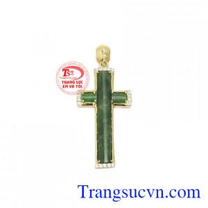 Mặt dây thánh giá cẩm thạch sang trọng