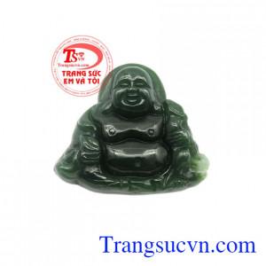Mặt Phật Di Lặc Nephrite thiên nhiên.